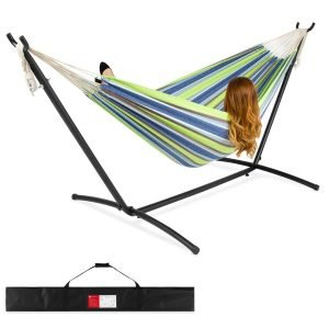 Best Choice Products 2-Person Brazilian-Style Double Hammock wtih Carrying Bag and Steel Stand